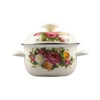캐서롤 에나멜 요리 냄비 1-6 리터 선택 조리기구 스튜/스톡 포트 아름다운 무작위 패턴