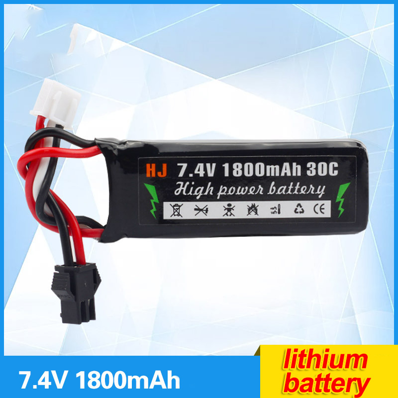 Polymer lithium battery electric gun water gun with remote control car 7.4V 1800mAh lithium battery accessories customized toys