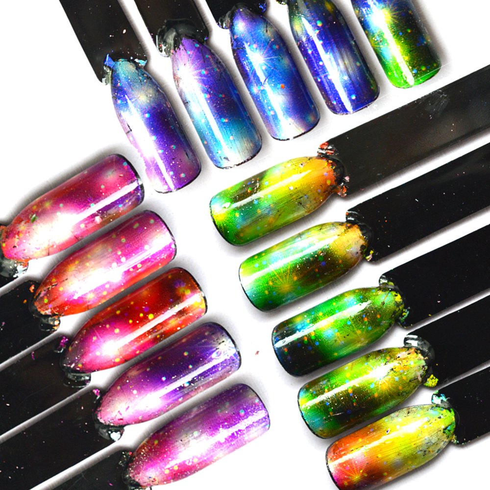 Nails Art & Tools Able 12 Colors Holographic Laser Glitter Hexagon Paillette Spangle Shape For Nail Art Decoration&glitter Craft Nail Sequin Lucky Star Latest Technology