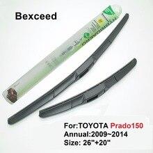 """1 комплект 2""""+ 20"""" высокое качество Bexceed Гибридный Дворник для ветрового стекла автомобиля лезвие для TOYOTA Prado 150 2009"""