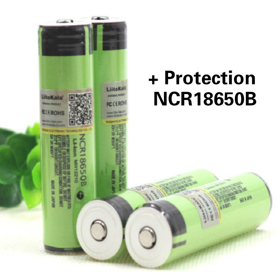 цена Liitokala New Original NCR18650B 3.7 V 3400 mAh +protection 18650 rechargeable lithium battery with PCB mobile power Battery