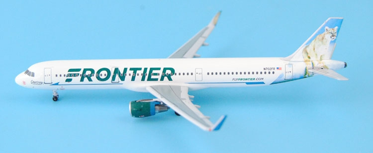 new Fine Aeroclassics 1: 400 American Frontier Aviation A321 / w N702FR Alloy aircraft model Collection model Holiday gifts fine special offer jc wings 1 200 xx2457 portuguese air b737 300 algarve alloy aircraft model collection model holiday gifts