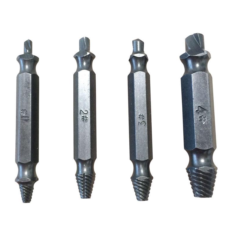 BINOAX 4Pcs Extractor cu șurub Găuri de foraj Ghid Set set rupt - Burghiu - Fotografie 5