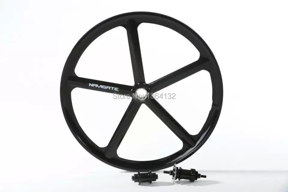700c 5 Spoke Fixed Gear Single Speed Bike Fixie Five Spoke Mag Wheel Rim Rear