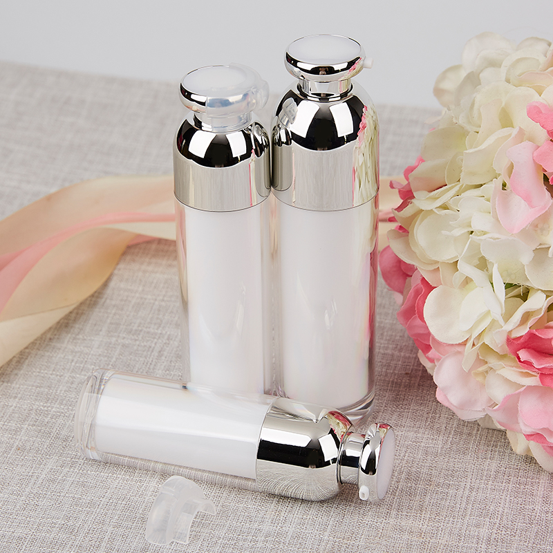 30ml 50ml 100ml Acrylic Vacuum Pump Bottles Makeup Cream Lotion Shampoo Airless Refillable Travel Cosmestic Containers 5pcs/lot
