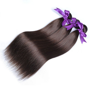 Image 5 - Light Brown Color 4 Straight Bundles Hair Weave Extensions Peruvian 100% Human Hair 1Pc Shining Star Remy  Hair No Tangle