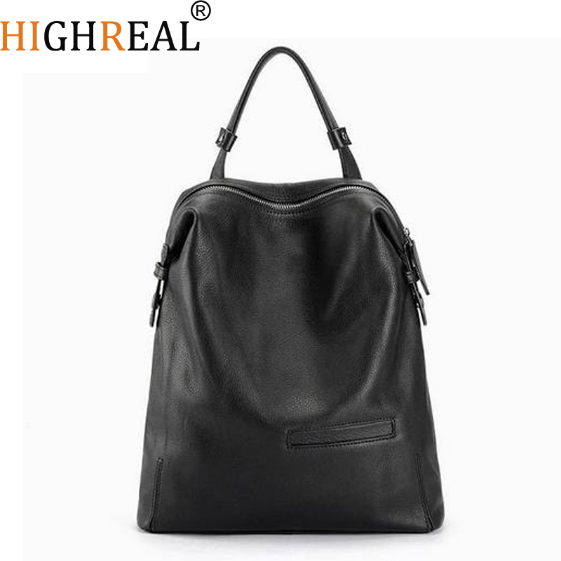 Black Fashion Backpack Women Backpacks Real Leather School Bags For Girls Travel Shoulder Bag Female High Quality Daily Daypacks цена