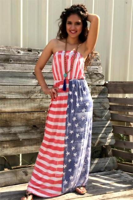 American Flag Prom Dresses 2015