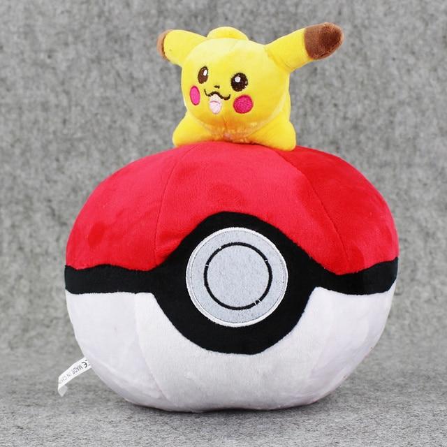 25 см Пикачу PokeBall Плюшевые Игрушки Мягкий Материал Poke Бал Игра Плюшевые Дети Подарков Бесплатная Доставка