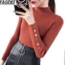 Turtleneck Sweater Wanita Rajut 2018 Musim Semi Baru Korea Slim Kasual Stretch Knit Sweater Wanita Pullover Lengan Panjang Kemeja(China)