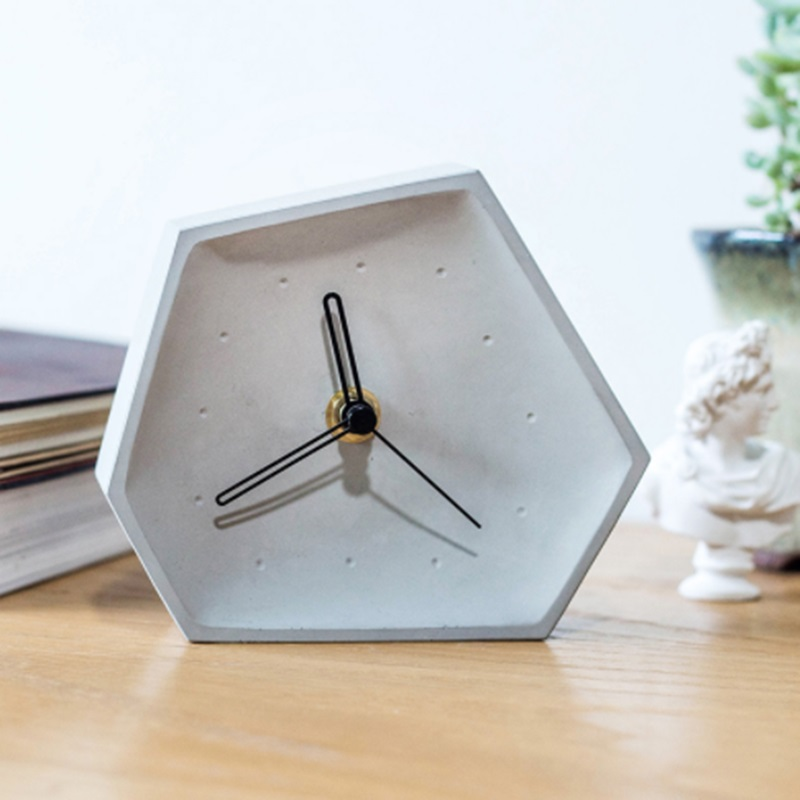 Concrete clock silicone mold cement bedroom bedside table clock set clock pendulum mold