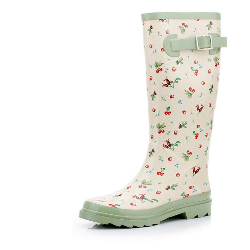 Female fashion cherry Korean women slip waterproof rain boots SUB1239
