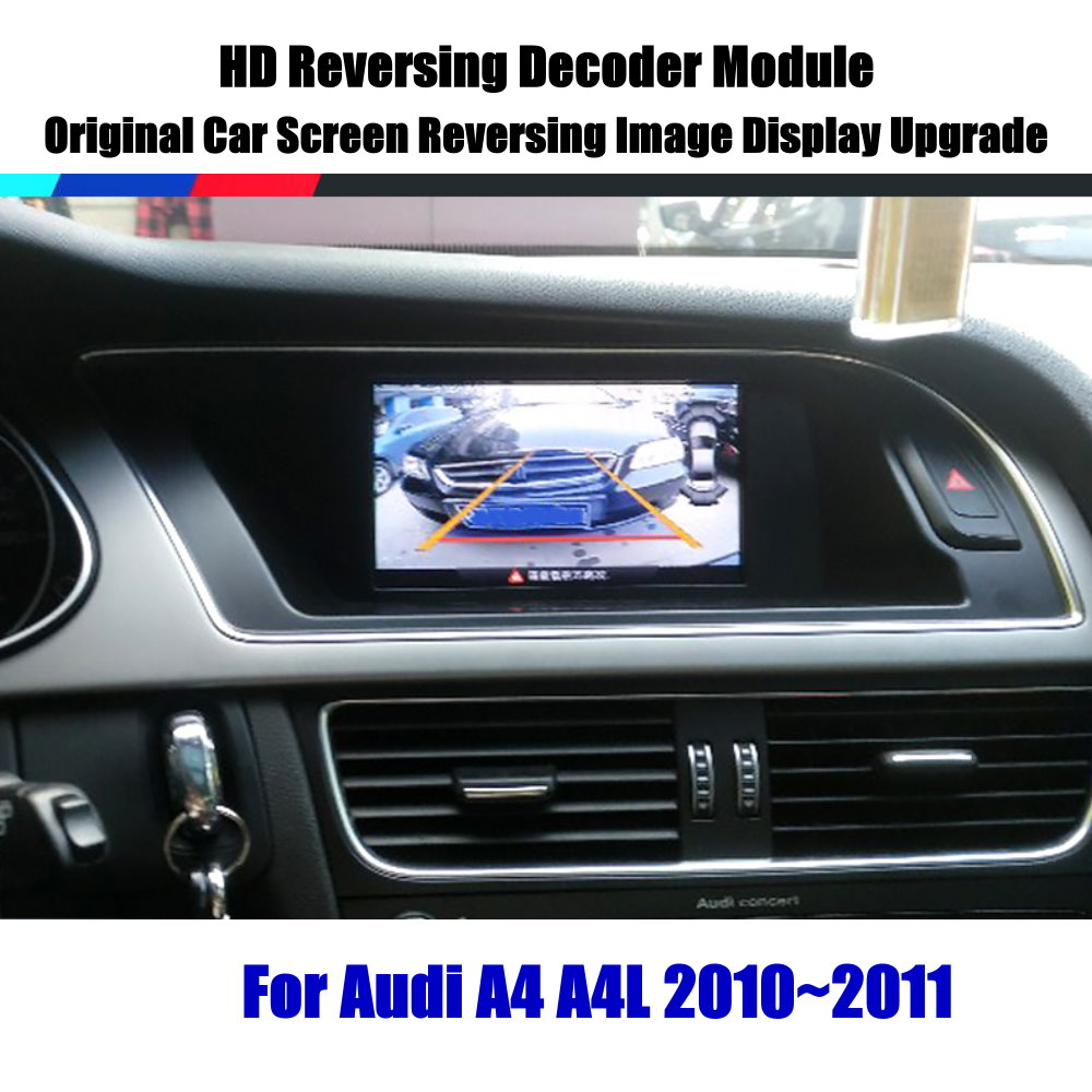 Liandlee For Audi A4 A4L 2010 2011 HD Decoder Box Player Rear Reverse Parking Camera Image