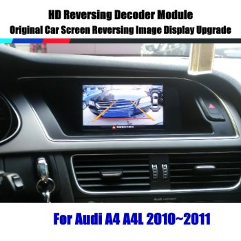 Car Front Rear view camera For Audi A4 B8 B9 2010-2020 AUTO Rearview Backup Reverse Parking Camera Original Screen MMI Decoder car rear view rearview backup camera for audi a1 8x 2010 2018 reverse reversing parking camera full hd ccd decoder accesories
