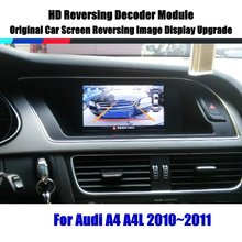 Liandlee For Audi A4 A4L 2010~2011 HD Decoder Box Player Rear Reverse Parking Camera Image Car Screen Upgrade Display Update