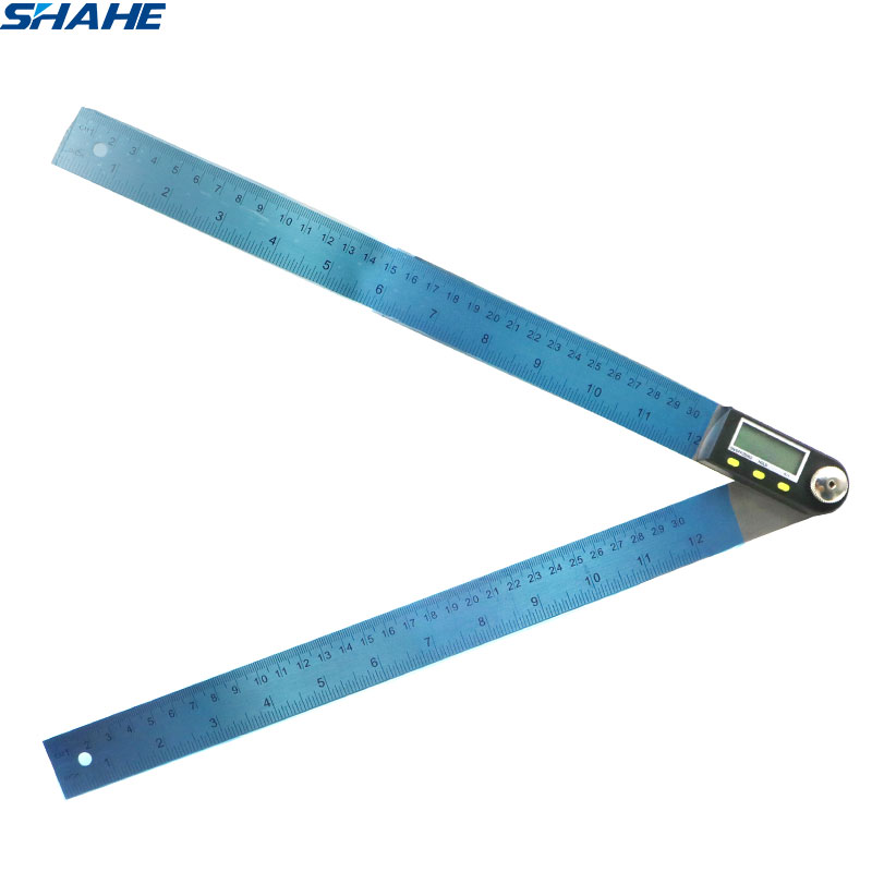 Electronic Goniometer Digital Protractor Angle Finder Stainless Steel Ruler 300 Mm Angle Gauge Measuring Tool