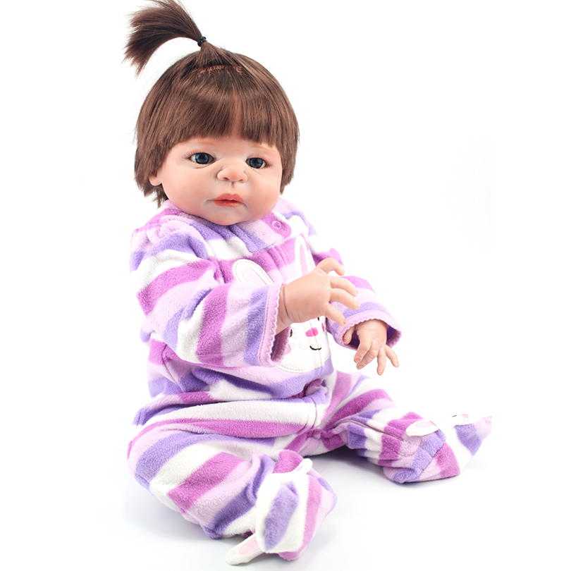 55cm Full Body Soft Silicone Reborn Baby Dolls Toy Newborn Princess Babie Alive Victoria Doll Girl Brinquedos Bonecas handmade chinese ancient doll tang beauty princess pingyang 1 6 bjd dolls 12 jointed doll toy for girl christmas gift brinquedo