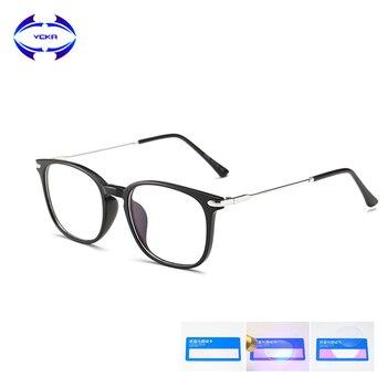 VCKA TR90 Anti Blue Light Blocking Glasses Women Goggles Reading Protection Eyewear Computer Gaming Men UV400 gafas luz azu