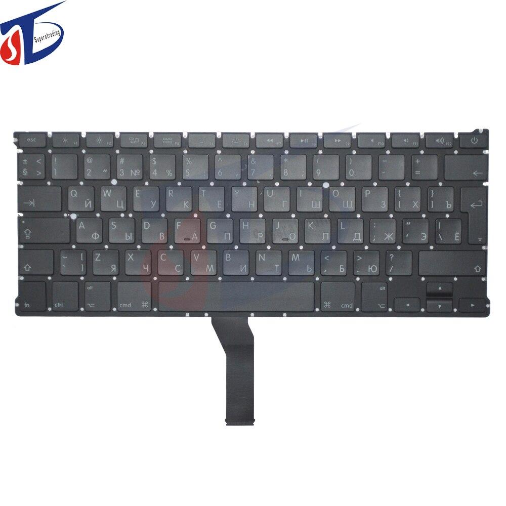 5pcs lot A1369 A1466 original russia keyboard for font b macbook b font air 13 A1369