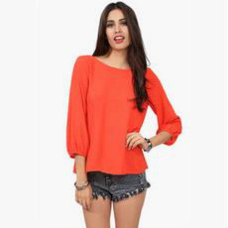 New 2017 Sexy Women's Fashion Leopard Chiffon Halter Loose Shirt Tops Blouse  Orange/Black/Pink/Yellow Backless Shirts 4 Colors - Online Get Cheap Orange Blouse -Aliexpress.com Alibaba Group