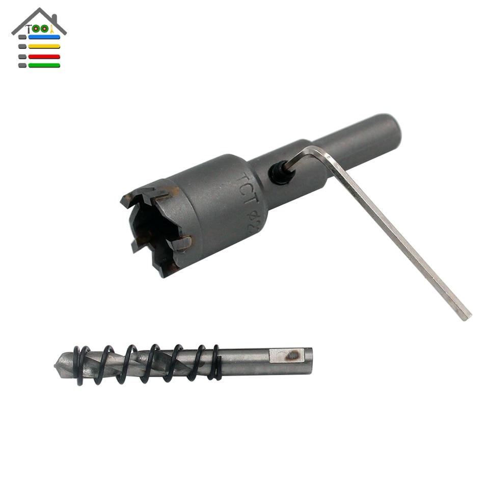 10pc//set 16mm-50mm Steel Carbide Tipped Drill Bit TCT Metal Wood Cutter Hole Saw