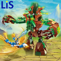 (Lis) Enlighten Building Block War of Glory Castle Knights War Of Ancient Tree 1 Figures 286pcs Educational Bricks Toy Boy Gift