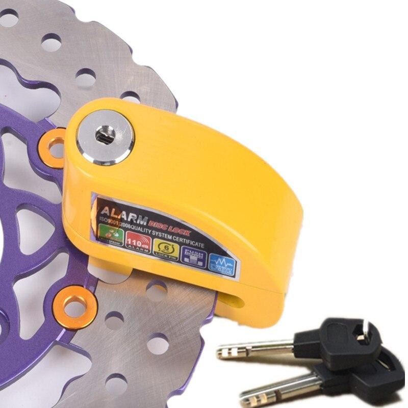 Livraison gratuite moto rcycle roue frein à disque serrure sécurité disque serrure vélo Scooter moto rbike étanche antivol serrure