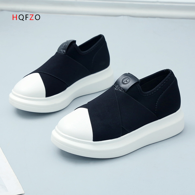 Fashion Comfortable Tenis Feminino Casual Slippery Loafers Platform Shoes Ladies