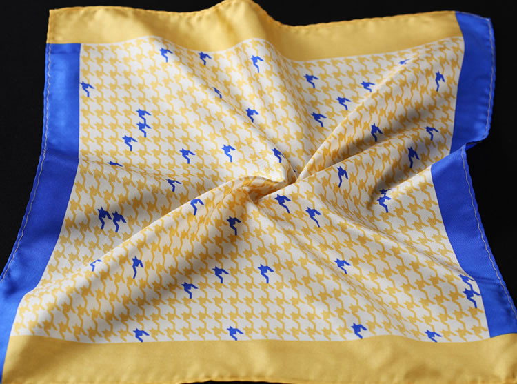 RB01 HN24Y Yellow Blue Houndstooth 34cm (1)