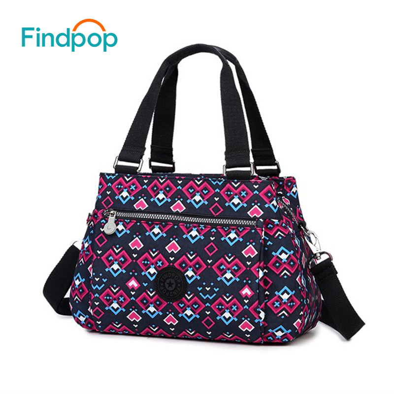 Findpop Casual Tote Bag Fashion Floral Printing Crossbody Bag For Women 2018 New Large Capacity Waterproof Canvas Crossbody Bags aosbos fashion portable insulated canvas lunch bag thermal food picnic lunch bags for women kids men cooler lunch box bag tote