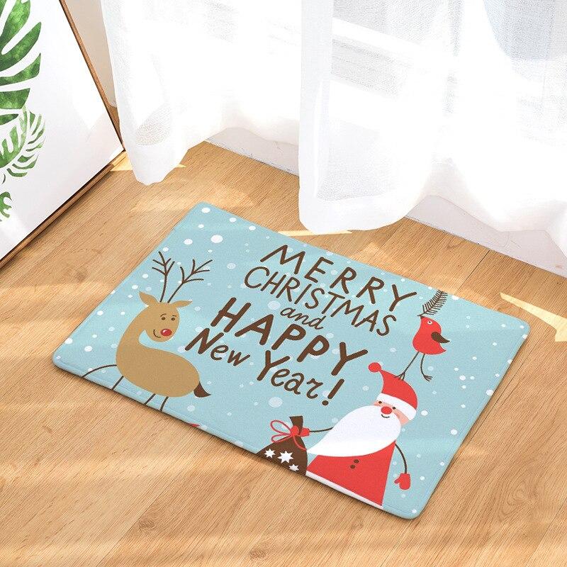 Christmas Carpet Runner.Us 8 49 48 Off Cammitever Christmas Santa Deer Snowflake Dinosaurs Non Slip Hallway Stair Runner Rug Carpet Thin Low Profile Indoor Outdoor Rug In