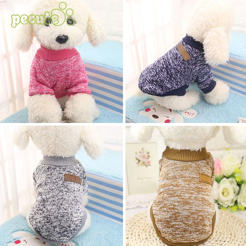 Free Shipping Cute Snowflake Puppy Cat Dog Sweater Knitted Crochet ...