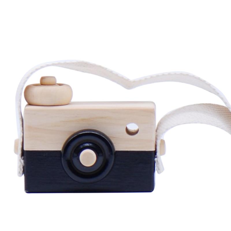 Скандинавский Европейский стиль камера Игрушки для маленьких детей декор комнаты предметы мебели ребенок Рождество День рождения деревянные подарки - Цвет: black