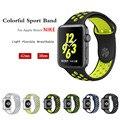 Deporte correa de la banda para iwatch 2 apple watch nike 42mm/38 correa correa de reloj de pulsera de silicona 1: 1 pulseira original Con Adaptador