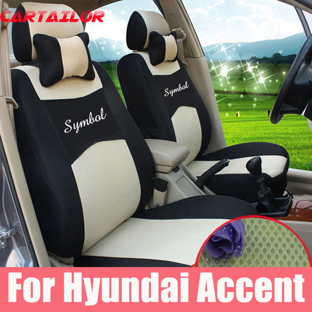 Cartailor Sport Seat Cushions Fit For Hyundai Accent Car Covers Interior Accessories Set Sandwich Cover