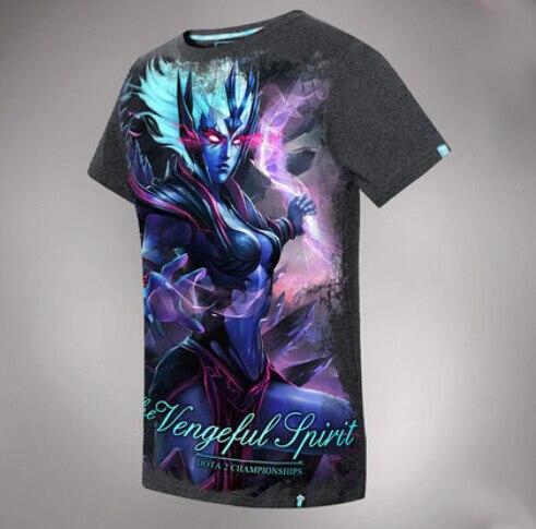 High Quality 3D Vengeful Spirit Tshirts DOTA 2 Hero Limited Edition Tees
