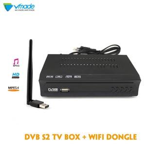 Image 1 - Vmade 1080P Full HD DVB S2 M5 Satellite TV รองรับสาย Satellite Receiver พร้อม USB WIFI  top box Media Player