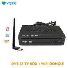 Vmade 1080P Full HD DVB S2 M5 receptor de TV satelital soporte Línea receptor de satélite con USB WIFI decodificador reproductor multimedia