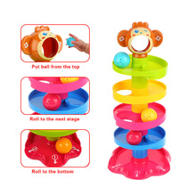 Tower Puzzle Rolling Ball Bell Stackers Kids Toy