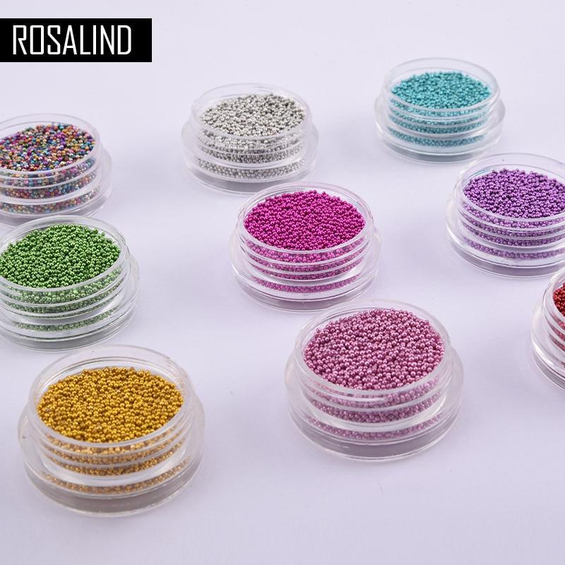 Schönheit & Gesundheit Ausdrucksvoll Rosalind 12 Farben Metall Mini Bohnen Nagel Glitter Für Maniküre Nail Art Benötigen Basis & Top Mantel Nagel Schönheit Dekorationen Werkzeug
