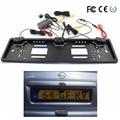 1 Европейская номерная табличка рамка + 1 Автомобильная камера заднего вида + 2 парковочных датчика Авто номерная рамка для Автомобильный ном...