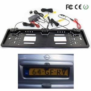 Car-Rear-View-Camera Auto-Number-Plate-Frame License-Plate 2-Parking-Sensor European