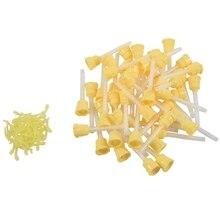50x наконечник для зубных слепков временный 1: 1 силиконовая резина, 50X желтые Наконечники+ инъекционная головка