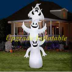 cheap inflatable halloween decoration led lighting 3 inflatable ghost balloon for yard - Cheap Halloween Yard Decorations