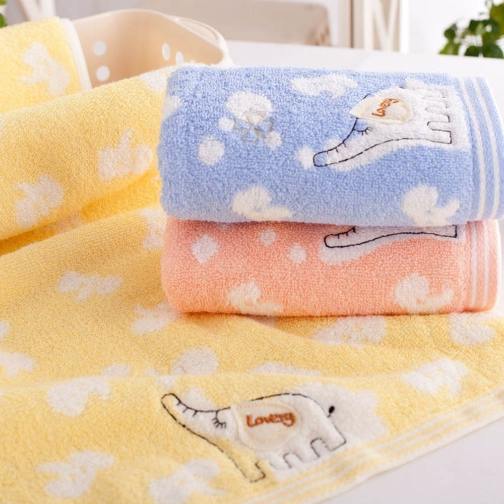 Cute Baby Child Soft Elephant Child Bamboo Fiber Towel Cotton Towel Strong Water Absorbing Microfiber Bathing Shower Towel