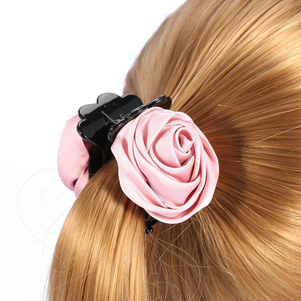 1Pcs Fashion Korean Womens Hairpins Hair Clip Rose Hair -5447