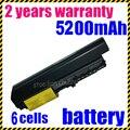 Jigu 4400 mah batería para lenovo ibm thinkpad t400 r61i t400 t61p portátil 42t5227 envío gratis