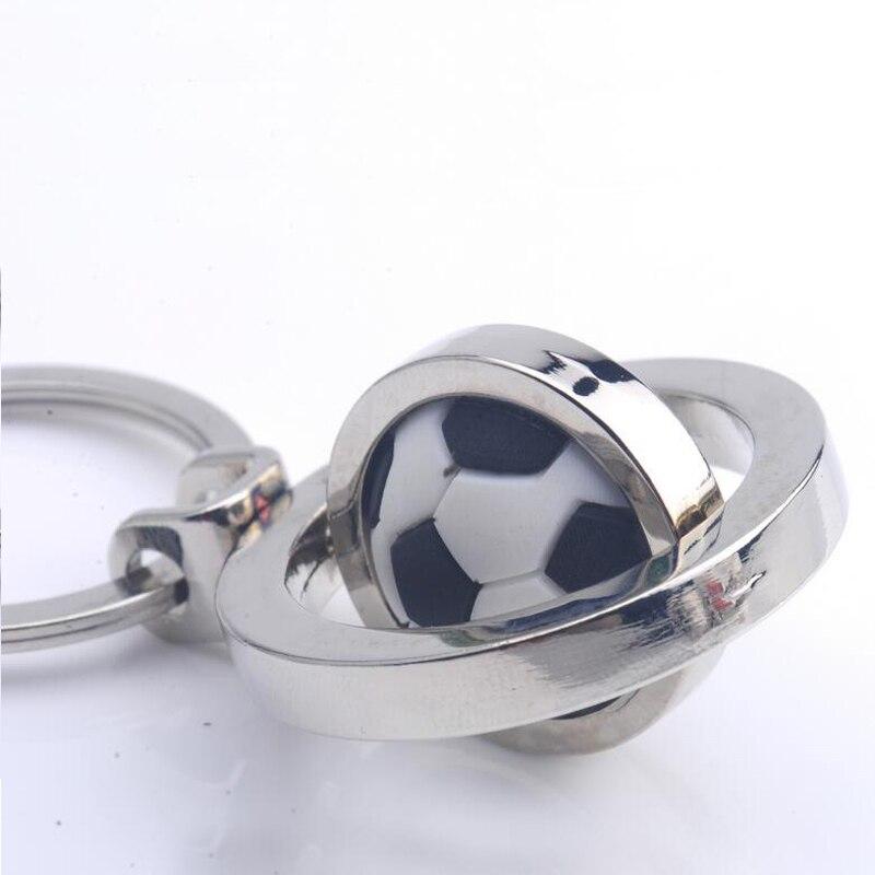การจัดส่งสินค้าฟรีดีเอชแอ50ชิ้น/ล็อตใหม่ขายร้อนปั่นฟุตบอลบาสเกตบอลกอล์ฟพวงกุญแจโลหะหมุนฟุตบอลKeyringsสำหรับของขวัญ-ใน พวงกุญแจ จาก อัญมณีและเครื่องประดับ บน   3