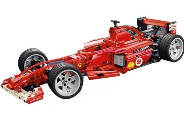 Technic City Series Racers F1 Racer 1:10 Car Building Blocks Kits Bricks Classic Model Kids Toys Marvel Compatible Legoings