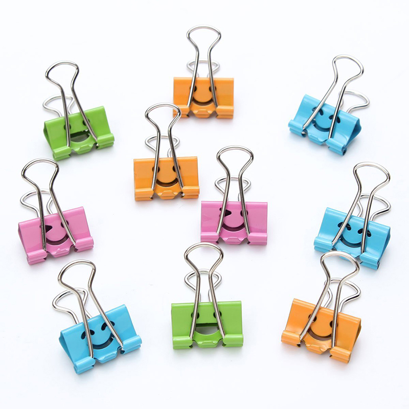 50 X Paper Clips Revolving Clips 19mm Folder Clips In The Expression Sent By Chance